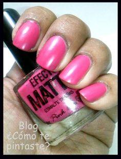 Mate (Reto BAT) #nails #uñas #comotepintaste #nailart #retoBAT #pinklove #mate #rosa #pink #swatches