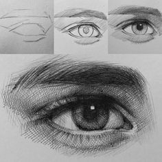 Eye Drawing Tutorials, Drawing Techniques, Watercolor Techniques, Realistic Eye Drawing, Drawing Eyes, Drawing With Pen, Drawing Practice, Pencil Art Drawings, Art Drawings Sketches