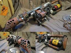 Custom Nerf and Dartblaster Mods. Themes between Apocalyptic Wasteland an Film Noir Dieselpunk Stuff Nerf Mod, Mad Max, Us Ranger, Modified Nerf Guns, Cool Nerf Guns, Post Apocalyptic Costume, Steampunk Weapons, Larp Armor, Homemade Weapons