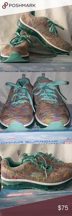PRICE FIRM 💥Multicolored  sketcher Sketch-air supreme with air cooled memory foam sketchers Shoes Sneakers