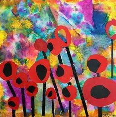 Artsonia Art Gallery - Flower - close up