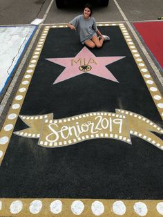 Senior parking spot. Hollywood walk of fame.