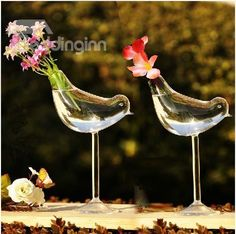 High Heel Bird Shape Home Decorative Glass Vase #vase #flowervase #bird Live a better life start with @bedding inn