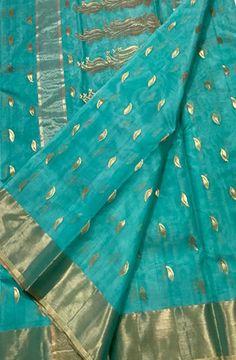 Discover thousands of images about Blue Handloom Chanderi Katan Silk Saree Dhakai Jamdani Saree, Uppada Pattu Sarees, Chanderi Silk Saree, Cotton Saree, Mysore Silk Saree, Indian Silk Sarees, Soft Silk Sarees, Lace Saree, Organza Saree