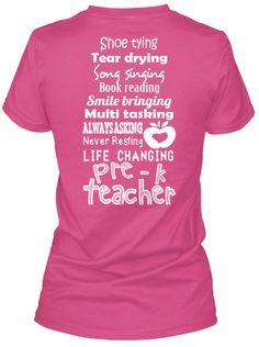 Pre-K Teacher List Shirts!
