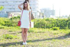 robe blanche Nouveau Look, Dresses, Fashion, Pretty White Dresses, White Dress, Dress Ideas, Fashion Ideas, Vestidos, Moda