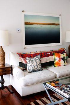 Large print over sofa