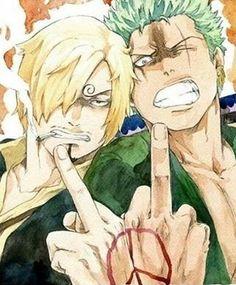 One--Peace! Zoro and Sanji- One Piece One Piece ルフィ, Sanji One Piece, Anime One Piece, One Piece Drawing, One Piece Fanart, Manga Anime, Film Manga, Me Anime, Fanarts Anime