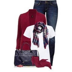 """H&M Checked Scarf"" by stay-at-home-mom on Polyvore"