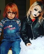Bride of chucky halloween costume for toddlers halloween bride of chucky homemade costume solutioingenieria Choice Image
