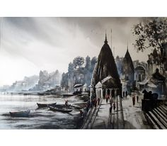 Beautiful Banaras Ghat by Ashif Hossain