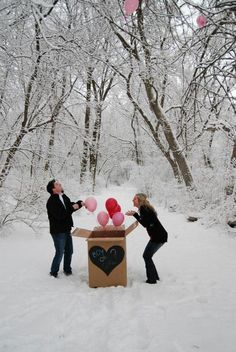 Gender reveal with balloons...IF we ever have another I want one person to know and them let us open in front of everyone