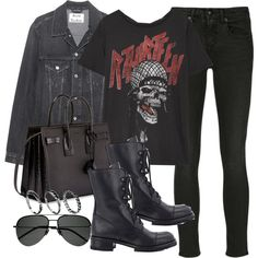 A fashion look from October 2017 featuring R13 tops, R13 jeans and Barneys New York ankle booties. Browse and shop related looks.
