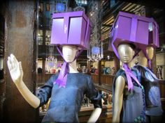We adore these #Christmas gift box hats over at Liberty London! So chic! #HotelREZChristmas