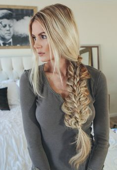 stacked braid by Amber Fillerup