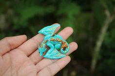 JinjinCrafts handmade polymer clay wyvern