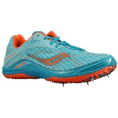 Saucony Grid Kilkenny XC4 Spike - Women's - Track & Field - Shoes - Blue/Orange