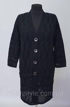 51d86d7fbc3d79b Купить Кардиган вязанный с длинным рукавом черного цвета в  интернет-магазине