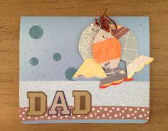 For Dad Card. Blank fish card  by CallMeCraftie on Etsy