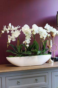 Orchid Flower Arrangements, Artificial Flower Arrangements, Orchid Plants, Flower Vases, Artificial Flowers, Flower Pots, Orchids, Fake Plants Decor, House Plants Decor