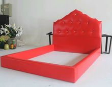 Cuero rojo penacho de camas de hotel, casa o sala de exposición con(China (Mainland))