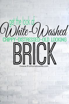 #diy White (faux) Brick Accent Wall via First Home Love Life