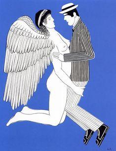 Γιάννης Γαΐτης, «Ερωτικός άγγελος», 1980 Artist Painting, Figure Painting, Greek Art, Conceptual Art, Contemporary Paintings, Urban Art, Art Forms, Landscape Paintings, Illustration Art
