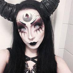Image result for demon halloween makeup
