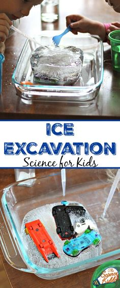 Freeze some toys in water in a plastic container and then use plastic pipettes to melt the ice and free the toys! This is a science activity that my kids always love and it keeps them entertained for almost an hour!