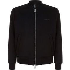 Neil Barrett Lightning Bolt Bomber Jacket ($715) ❤ liked on Polyvore featuring men's fashion, men's clothing, men's outerwear, men's jackets, mens denim jacket and neil barrett men's jacket