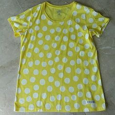 Uniqlo UT Kyoto collaboration shirt Never worn and brand new Uniqlo UT collaboration shirt with Kyoto brand Sou-Sou. Yellow on white polka dots. Size says XL but will fit like a size L. Purchased in japan UNIQLO Tops Tees - Short Sleeve