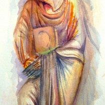 L'ART ROMAN aquarelle