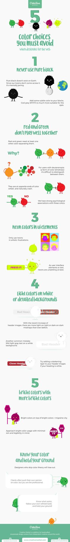 Infographic: Color Choices You Must Avoid When Designing for the Web