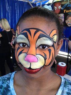 Tigger Face Painting #facepaint #facepainting