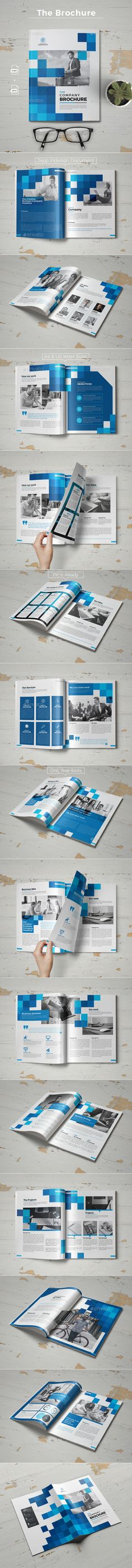 Brochure Template InDesign INDD - 24 Custom Pages, A4 & US Letter Size