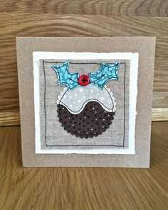 Fabric Appliqué Christmas Cards - Free Craft Project - Card MakingFabric Appliqué Christmas Cards - Crafts BeautifulLong table runner winter quilt bed runner buffet topper white-blue fireplace accent centerpieces for the whole winter Santa piece Christmas Cards 2017, Christmas Card Crafts, Printable Christmas Cards, Christmas Sewing, Xmas Cards, Christmas Greetings, Handmade Christmas, Christmas Fabric, Button Christmas Cards