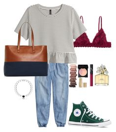 """""""bro hmu w/ some icecream"""" by sunglamourandpreppiness ❤ liked on Polyvore featuring H&M, Monki, Brooks Brothers, Converse, Urban Decay, SUQQU, NARS Cosmetics, Marc Jacobs and Stila"""