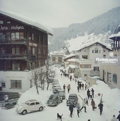 Klosters print by Slim Aarons at Photos.com 52043564