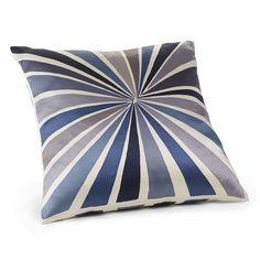 Lourdes Sánchez Bull's-Eye Silk Pillow Cover - Blue Smoke | west elm