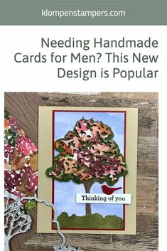 I always need card design ideas for the men in my life so I was super stoked to work with the 'Beauty of Friendship' stamp set to make these masculine cards. I've got the card tutorial and video for you with measurements and supply list at www.klompenstampers.com News Design, Design Ideas, Card Making Tips, Supply List, Fall Cards, Masculine Cards, Card Tags, Stampin Up Cards, Card Stock