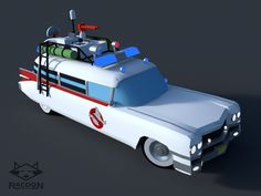 """Ecto1 - modeling monday Lowpoly version of the hero car from the 1984 movie """"Ghostbusters"""" Made this during my weekly live blender modeling stream on monday."""