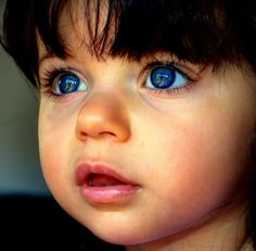 If these eyes don't catch your attention, nothing will. The beautiful big innocent eyes of a child.