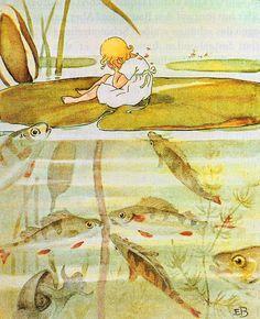 Elsa Beskow (1874 - 1953) autora e ilustradora sueca de libros infantiles .