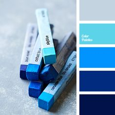 I ❤ cool colors . . . Color Palette #2614~ blue electric color, blue-color, bright blue, bright colors, cool tones, deep blue, deep-light blue, electrum color, gray color, gray-blue, house color scheme, midnight blue, saturated colors.