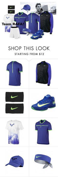 Team Rafa by tennisidentity on Polyvore featuring modern, men's fashion, menswear, nike and tennisfashion