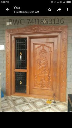 Pooja Room Door Design, Wooden Window Design, Wooden Door Design, Double Door Design, Tv Room Design, Small House Front Design, Door Glass Design, Single Door Design