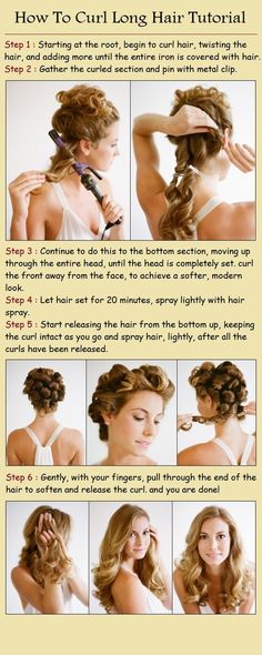 How-to Curl Long Hair (tutorial), in different perspective