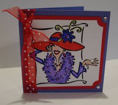 3x3 Red Hat Society Card