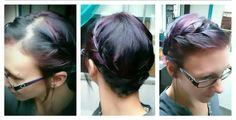 Around the world braid, short hair braid, galaxy hair color