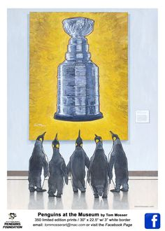 Five Penguins just hanging out at the museum Pens Hockey, Ice Hockey Teams, Hockey Stuff, Pittsburgh Sports, Pittsburgh Penguins Hockey, Hockey Room, Lets Go Pens, Field Hockey, Hockey